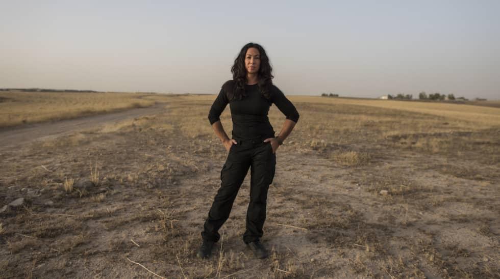 Magda Gad på plats i Irak. Foto: Expressen / CHRISTOFFER HJALMARSSON EXPRESSEN