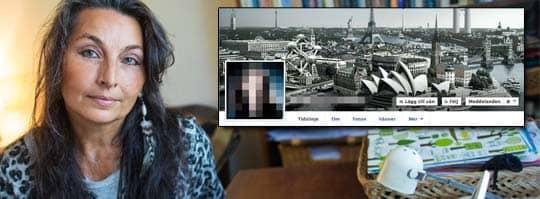 NÄTTRAKASSERAD. Bajsmannen har gjort rasistiska nidbilder av Agneta Oreheim. Precis som många andra har Agneta anmält händelserna till polisen.- Vi behöver en ny lagstiftning som är heltäckande mot mobbning, även på nätet, säger hon. Foto: Anders Ylander/Facebook