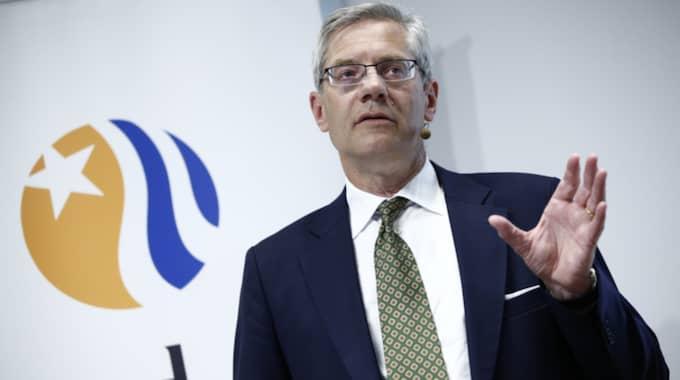 Magnus Hall, koncernchef för Vattenfall fick sammanlagt 18,6 miljoner kronor i lön och pensionsavsättningar under 2015. Foto: Fredrik Persson/Tt / TT NYHETSBYRÅN
