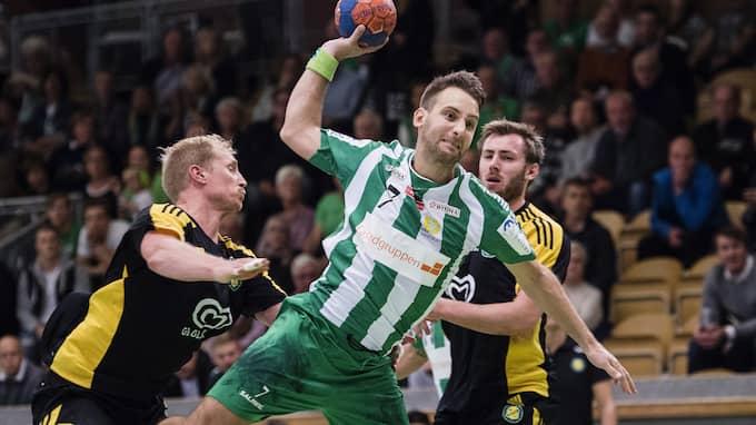 Patrick Fahlgren är handbollsspelare och paret träffades i Tyskland, där han spelade i klubben Mt Melsungen. Tidigare i år bytte han klubb till Hammarby. Foto: JOHANNA LUNDBERG / BILDBYRÅN