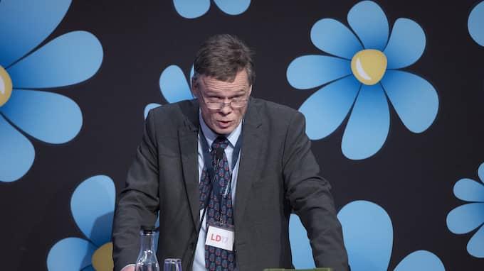 Martin Strid, styrelseledamot i SD Borlänge hävdar att muslimer kan finns på en skala mellan noll till hundra där man är mer eller mindre människa. Foto: SVEN LINDWALL