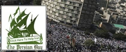 Pirate Bay engagerar sig i kampen för ett öppnare Iran - och byter namn till Persian Bay.