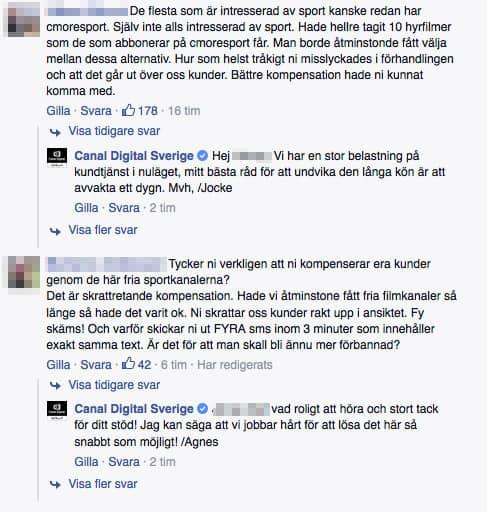 Canal Digital har fullt upp med att hantera kundernas kontakt. Foto: Facebook