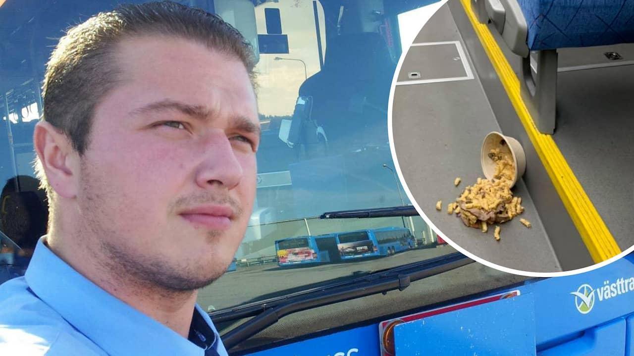 Busschauffören Roman rasar mot vandalerna