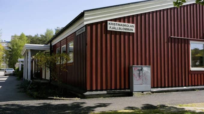 Det var på Kristinaskolan i Rannebergen som rånarna slog till. Foto: Henrik Jansson