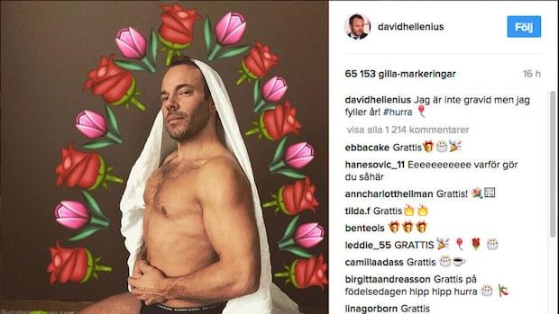 David Hellenius hyllas efter bilden på Instagram