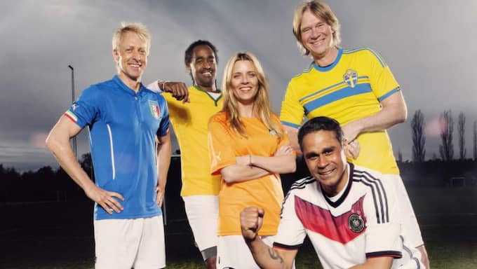 Delar av SVT:s laguppställning i VM. Foto: Magnus Liam Karlsson