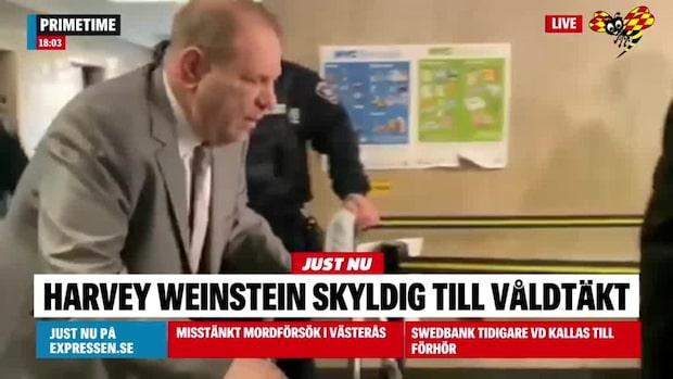 Domen: Harvey Weinstein skyldig till våldtäkt