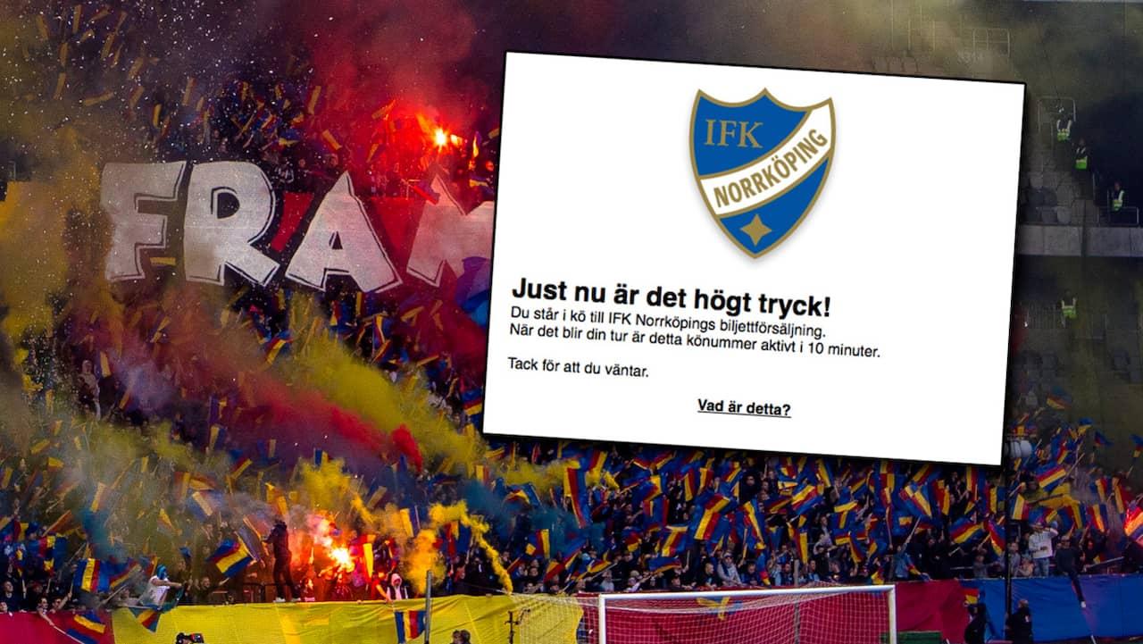 IFK Norrköping: IFK Norrköpings hemsida kraschade efter tryck från Djurgården-fans
