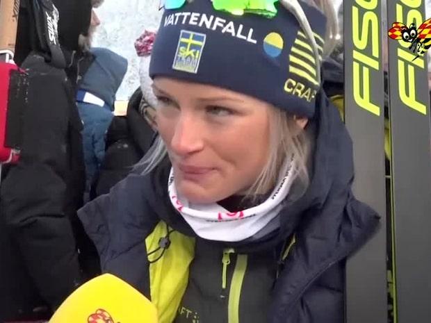 Frida Karlsson nära tårar – förundrad i intervjun
