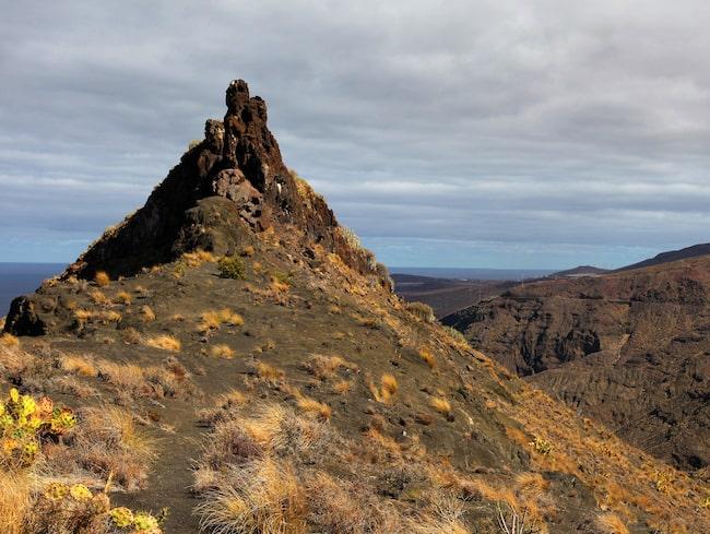 På Roque Guayedra levde guancher för 700 år sen.