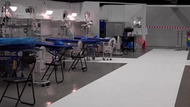 Bilderna inifrån det nya fältsjukhuset i Sverige