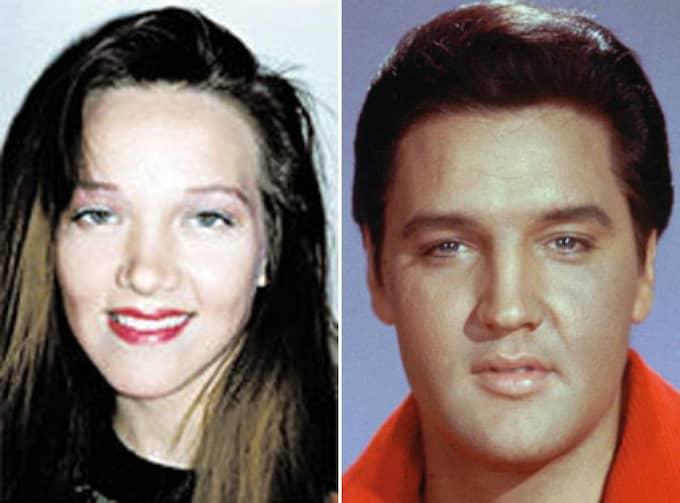 Lisa Johansen och Elvis Presley.