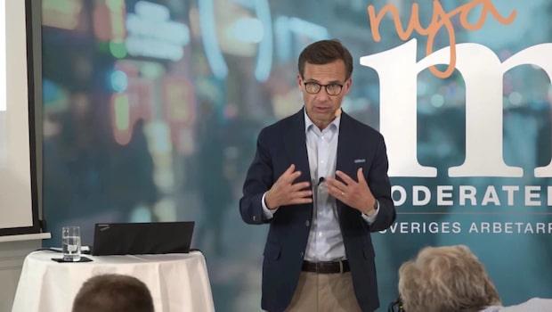 Kristersson jämför brottsvågen i Sverige med finanskrisen