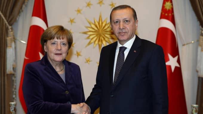 Angela Merkel och Recep Tayyip Erdogan. Foto: Yasin Bulbul / AP TT / NTB SCANPIX