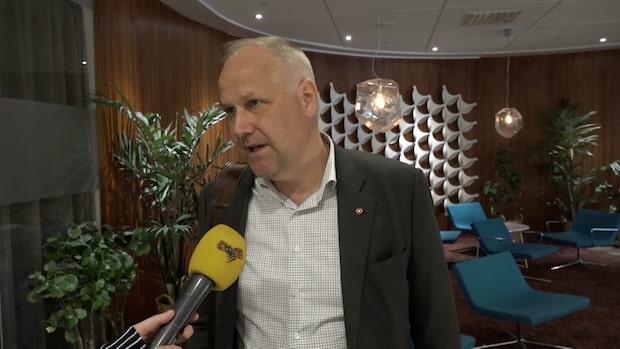 Jonas Sjöstedt (V) inför partiledardebatten i TV4
