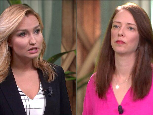 Se hela debatten mellan Ebba Busch och Åsa Lindhagen