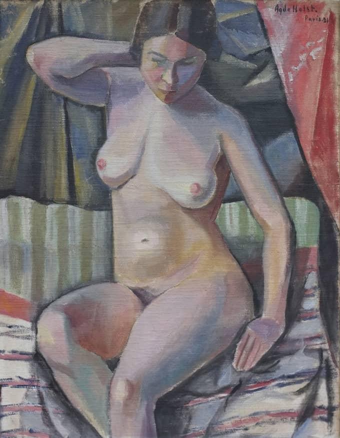"Agda Holst, ""Modellstudie"", 1921. Foto: OKÄND / PRINS EUGENS WALDEMARSUDDE"