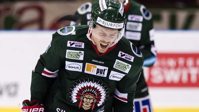 Mats Rosseli Olsen jublar efter 4–3-målet. Foto: MATHIAS BERGELD / BILDBYRÅN