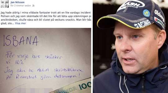 Många har kommenterar racerstjärnans inlägg men han har också fått stöd av Karlstadsborna.