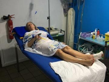 Heide Garrigan på läkarstationen i Vanuatu.