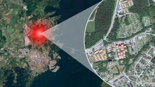 I det här området i Kalmar ska överfallet ha skett. Foto: Google maps