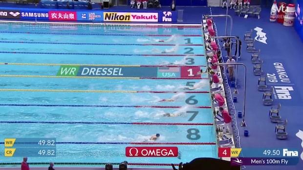Dressel slår världsrekord i sim-VM