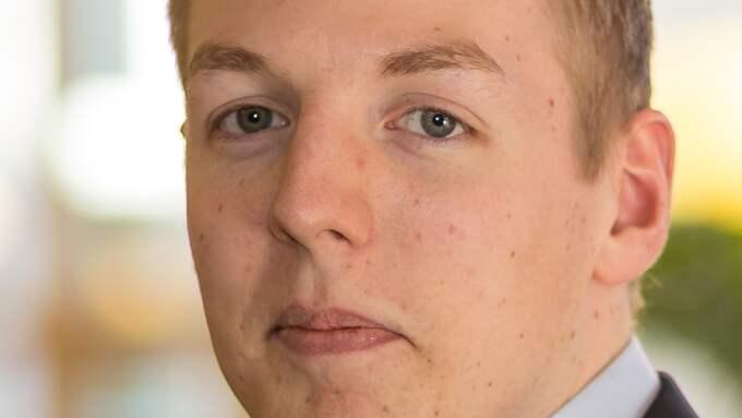 Mattias Tykesson (M), fullmäktigeledamot och väktare. Foto: Pressbild