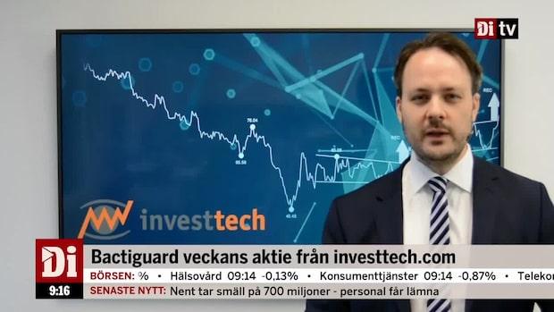 Teknisk analys från Investtech.com: Bactiguard