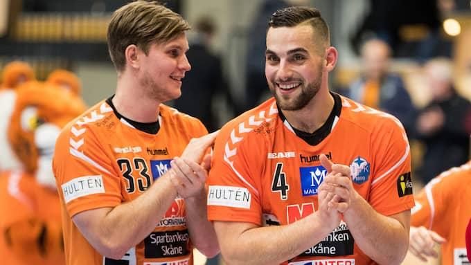 Mario Lipovac och lagkamraten Inge Aas Eriksen. Foto: MATHILDA AHLBERG / BILDBYRÅN