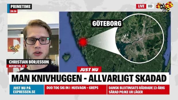 En allvarligt skadad efter knivskärning i Gamlestaden i Göteborg