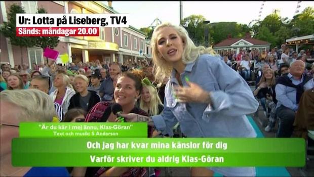 Hyllningarna för Lill-Babs i Lotta på Liseberg