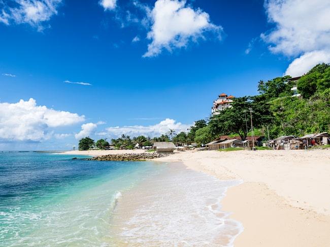 Så här föreställer sig många att Balis stränder ser ut...