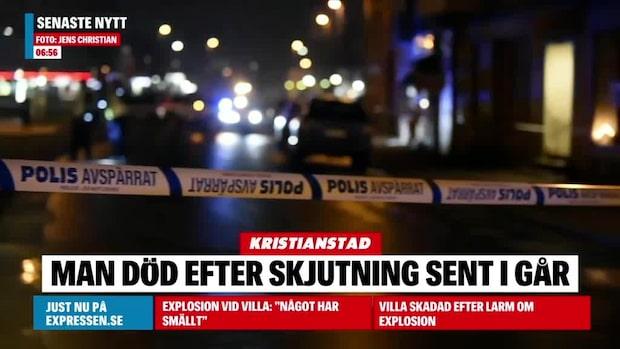 Man död efter skjutning i Kristianstad