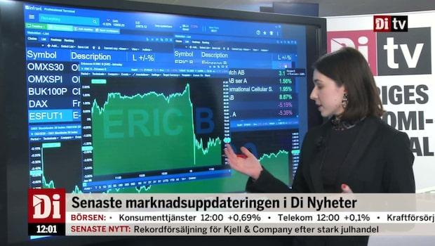 Di Nyheter 12.00 - Ericsson sänker storbolagsindex