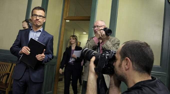 På torsdagen presenterade sjukförsäkringsminister Ulf Kristersson alliansens förslag på hur sjukförsäkringen ska göras om. Foto: Janerik Henriksson / Scanpix