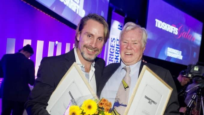 Niclas Hammarström, här med Staffan Heimerson på Tidskriftsgalan 2013. Foto: Christian Örnberg