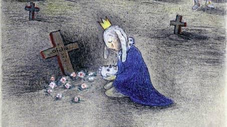 """Ur """"Titta Hamlet"""". Illustration: Anna Höglund."""