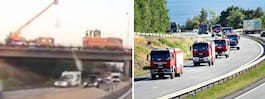 Polska brandmännen hyllas genom landet