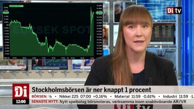Di Nyheter 12.00 14 november - kronan försvagas på lägre inflationstakt