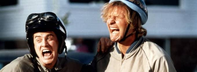 """Jim Carrey och Jeff Daniels som Lloyd respektive Harry i """"Dum och dummare"""". Foto: Sandrew"""