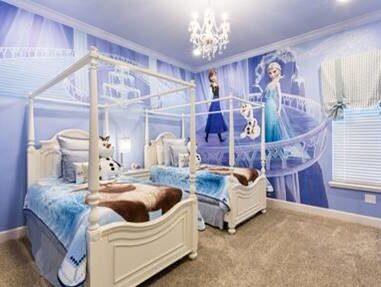 """Somna med alla karaktärerna från """"Frost"""" i rummet."""