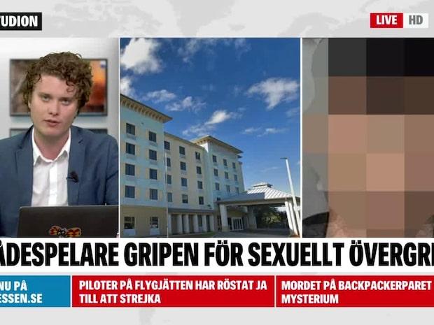 Svensk skådespelare gripen för sexuellt övergrepp