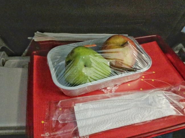 Detta motsvarade en vegetarisk måltid på en flygning med Avancia.