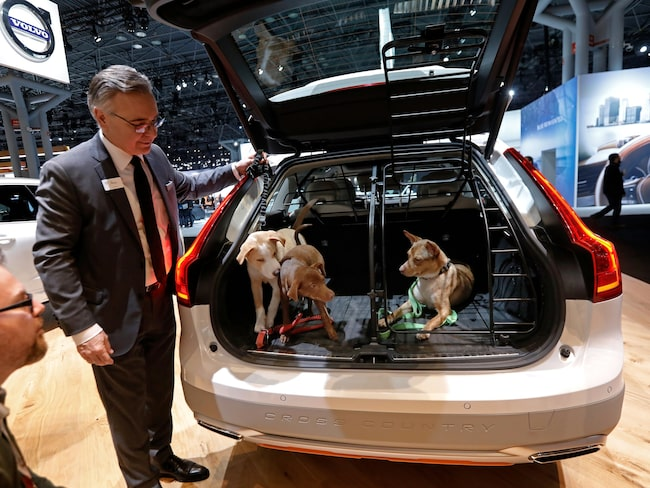 Volvo V90 ställde ut på bilsalongen i New York i påsk.