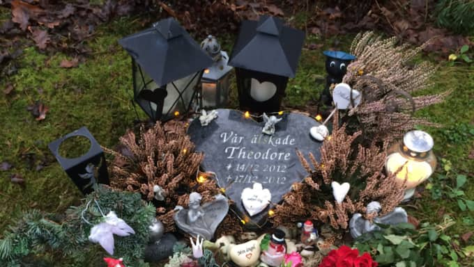 Theodores grav har funnits i tre år, och det har regelbundet försvunnit saker. Foto: Privat