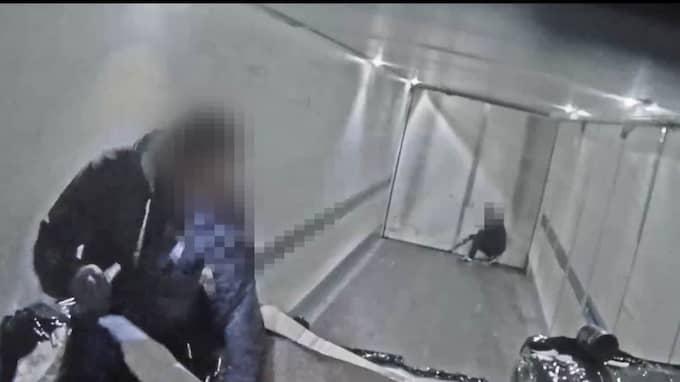 Fyra personer åtalas i dag för det spektakulära stöldförsöket mot PostNord tidigare i somras. Foto: PostNord