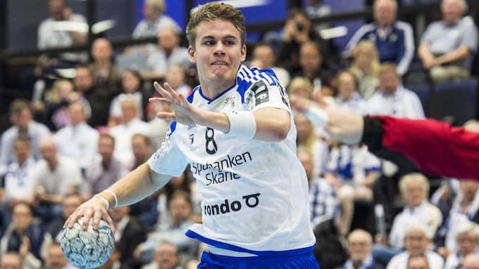 Ystads Hampus Andersson är inne i ett målstim. Foto: CHRISTIAN ÖRNBERG / BILDBYRÅN