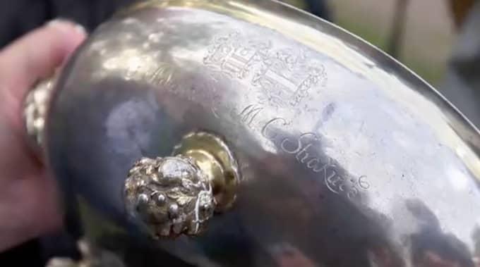 """Silverskålen värderades till en miljon kronor i """"Antikrundan"""""""