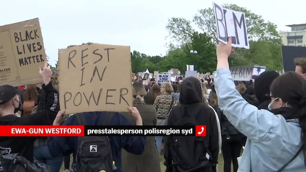 """Polisen om demonstrationen i Malmö: """"Alldeles för mycket folk"""""""
